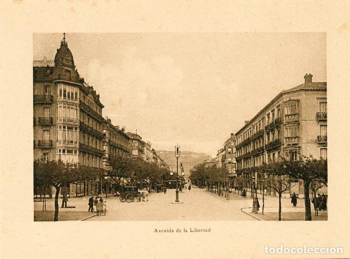 SAN SEBASTIÁN DONOSTIA, LÁMINA 20X14 AVENIDA DE LA LIBERTAD (Postales - España - Pais Vasco Antigua (hasta 1939))