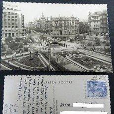 Postales: ANTIGUA POSTAL BILBAO VIZCAYA 1950 PLAZA FEDERICO MOYUA POSTCARD CC03496. Lote 144112476