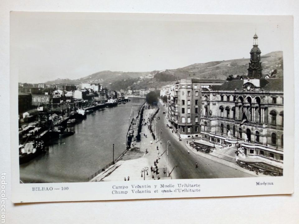 POSTAL - 100. BILBAO. CAMPO VOLANTÍN Y MUELLE URIBITARTE. ED. MADYMA. SIN CIRCULAR (Postales - España - País Vasco Moderna (desde 1940))