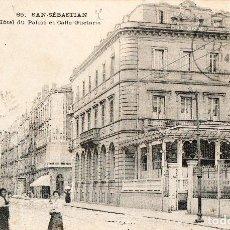 Postales: SAN SEBASTIÁN DONOSTIA POSTAL SELLADA Y RESELLADA 1914 HOTEL PALAIS CALLE GUETARIA EDIT. U.P.U.. Lote 144803878