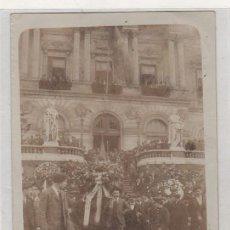 Postkarten - Postal fotográfica. Bilbao Ayuntamiento. Acto del partido republicano de Vizcaya. Circulada. - 144846330
