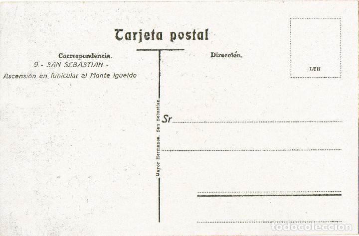 Postales: san sebastián donostia postal nueva El funicular, subida a igueldo edit. mayor hermanos - Foto 2 - 144715922