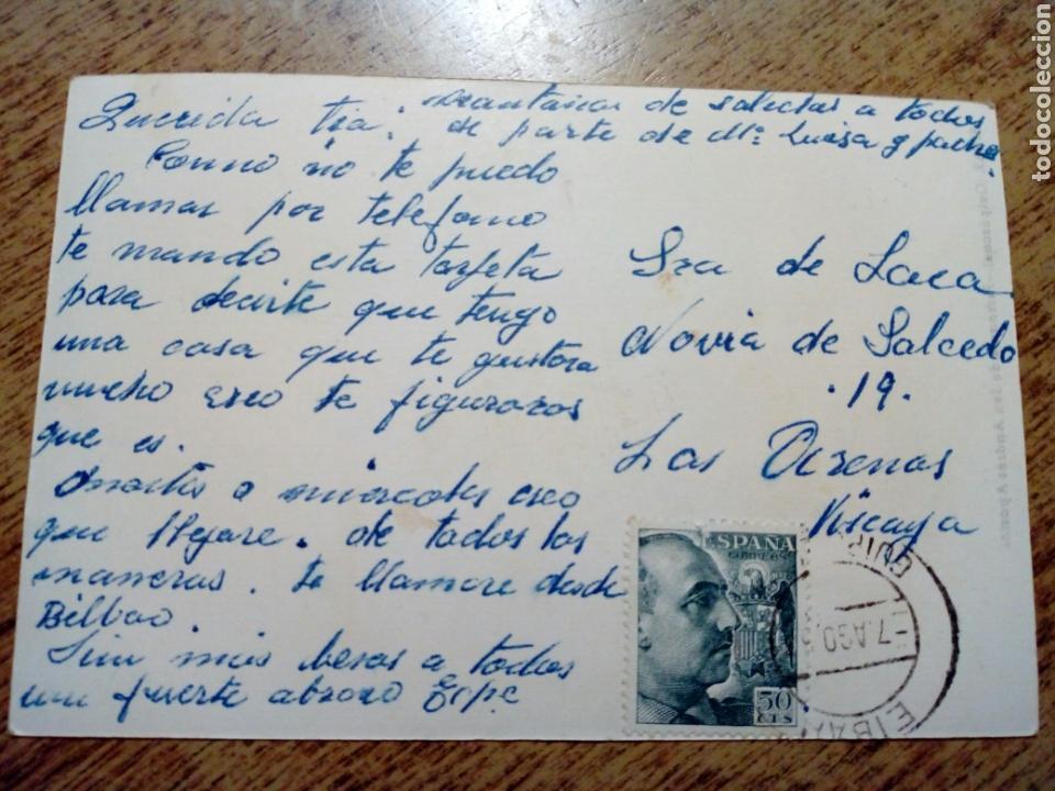 Postales: POSTAL circulada - EIBAR. Parroquia San Andrés Apostoll - franqueada, escrita años 50 - - Foto 2 - 145196394