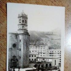 Postales: POSTAL CIRCULADA - EIBAR. PARROQUIA SAN ANDRÉS APOSTOL - FRANQUEADA, ESCRITA AÑOS 50 -. Lote 145196394