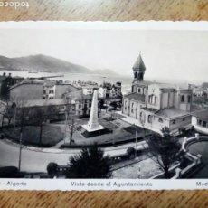 Postales: POSTAL CIRCULADA - 120. ALGORTA VISTA DESDE EL AYUNTAMIENTO.ED. MADYMA - FRANQUEADA, ESCRITA 1955 -. Lote 145197358