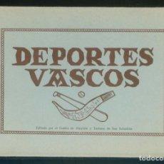 Postales: *DEPORTES VASCOS* ED. CENTRO ATRACCIÓN Y TURISMO S. SEBASTIÁN 1996* SERIE COMPLETA 12 DIFERENTES.. Lote 145803074