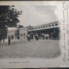 Postales: SAN SEBASTIAN LA GARE, LA ESTACION, EDICION FRANCESA, REVERSO CARTE POSTALE.. Lote 145813586