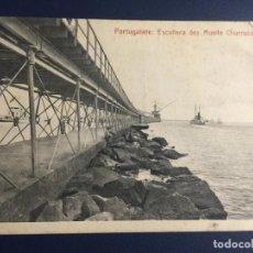 Postales: PORTUGALETE - ESCOLLERA MUELLE CHURRUCA. Lote 146193402