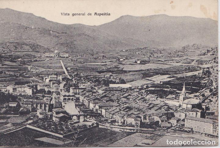 AZPEITIA (GUIPÚZCOA) - VISTA GENERAL - EJG - PARIS - IRUN (Postales - España - País Vasco Moderna (desde 1940))