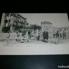 Postales: FUENTERRABIA GUIPUZCOA PESCADORES EN LA MARINA REVERSO SIN DIVIDIR. Lote 146961410