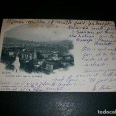 Postales: BILBAO DEUSTO VISTO DESDE MIRAMAR REVERSO SIN DIVIDIR. Lote 146961570
