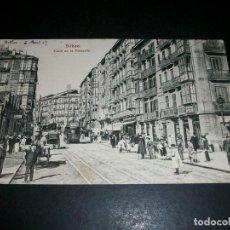 Postales: BILBAO CALLE DE LA ESTACION TRANVIA. Lote 146978414