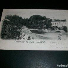 Postales: USURBIL CERCANIAS DE SAN SEBASTIAN REVERSO SIN DIVIDIR. Lote 146988550
