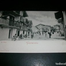 Postales: FUENTERRABIA GUIPUZCOA LA PLAYA REVERSO SIN DIVIDIR ED. A. VILLATTE TARBES. Lote 146991474
