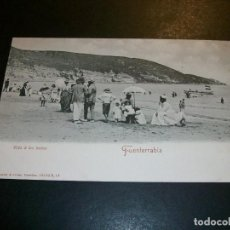 Postales: FUENTERRABIA GUIPUZCOA VIDA A LOS BAÑOS PLAYA AMAS DE CRIA NIÑERAS REVERSO SIN DIVIDIR ROMMLER & JON. Lote 146991918