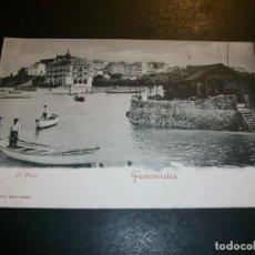 Postales: FUENTERRABIA GUIPUZCOA LA PLAYA ED. TIBURCIO BERROTARAN. Lote 147004342
