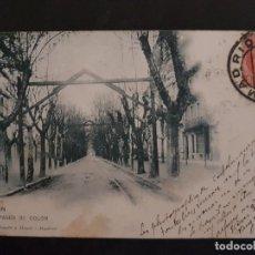 Postales: IRUN GUIPUZCOA PASEO DE COLON HAUSER Y MENET REVERSO SIN DIVIDIR. Lote 147035466