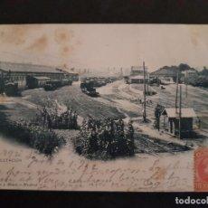 Postales: IRUN GUIPUZCOA LA ESTACION HAUSER Y MENET REVERSO SIN DIVIDIR. Lote 147035634
