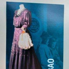 Postales: POSTAL DEL MUSEO VASCO DE BILBAO. EXPOSICIÓN PASADO DE MODA. TRAJE URBANO.. Lote 147265106