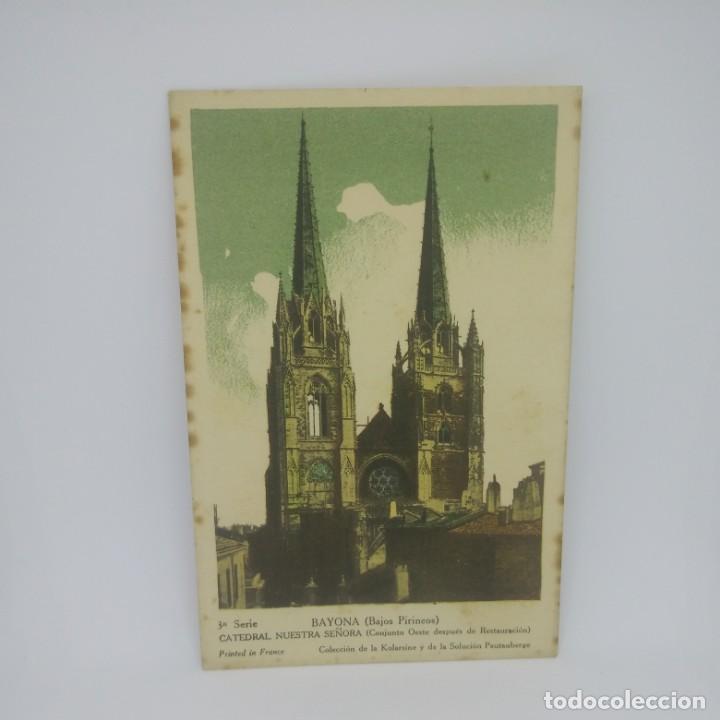 BAYONA. BAJOS PIRINEOS. 3ª SERIE. CATEDRAL NUESTRA SEÑORA. (Postales - España - Pais Vasco Antigua (hasta 1939))
