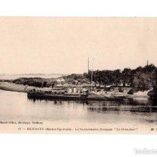 Postales: HENDAYE (BASSES-PYRÉNÉS) LE STATIONNAIRE FRANCAIS. Lote 147478018