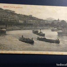 Postales: BILBAO PUENTE GIRATORIO L Y G BILBAO SIN CIRCULAR. Lote 147504746