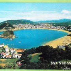 Postales: SAN SEBASTIÁN. 46 VISTA GENERAL DESDE EL MONTE IGUELDO. MANIPEL. NUEVA. COLOR. Lote 147801752