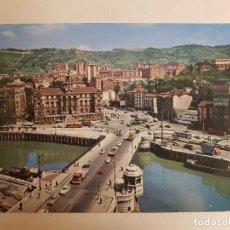Postales: BILBAO, VIZCAYA, PUENTE GENERAL MOLA Y AYUNTAMIENTO. Lote 147842722
