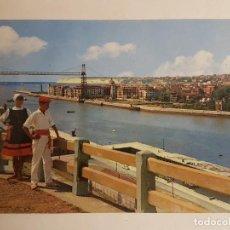 Postales: PORTUGALETE, VIZCAYA, PUENTE COLGANTE CON TIPOS POPULARES. Lote 147843126