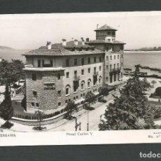 Postales: POSTAL CIRCULADA - FUENTERRABIA - HOTEL CARLOS V - EDITA MANIPEL RTO. Nº142205. Lote 148175738