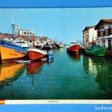 Postales: POSTAL DE ZUMAYA ( SAN SEBASTIAN): EL PUERTO. Lote 148224474