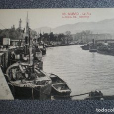 Postales: PAIS VASCO BILBAO LA RIA POSTAL ANTIGUA. Lote 148394102