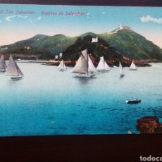 Postales: POSTAL DE SAN SEBASTIÁN. REGATAS DE BALANDROS.. Lote 149442697