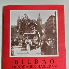Postales: LIBRO CON 24 POSTALES DE BILBAO. A PRIMEROS DE SIGLO XX. BLANCO Y NEGRO. ED. ARGITARATZAILEA.. Lote 194203597