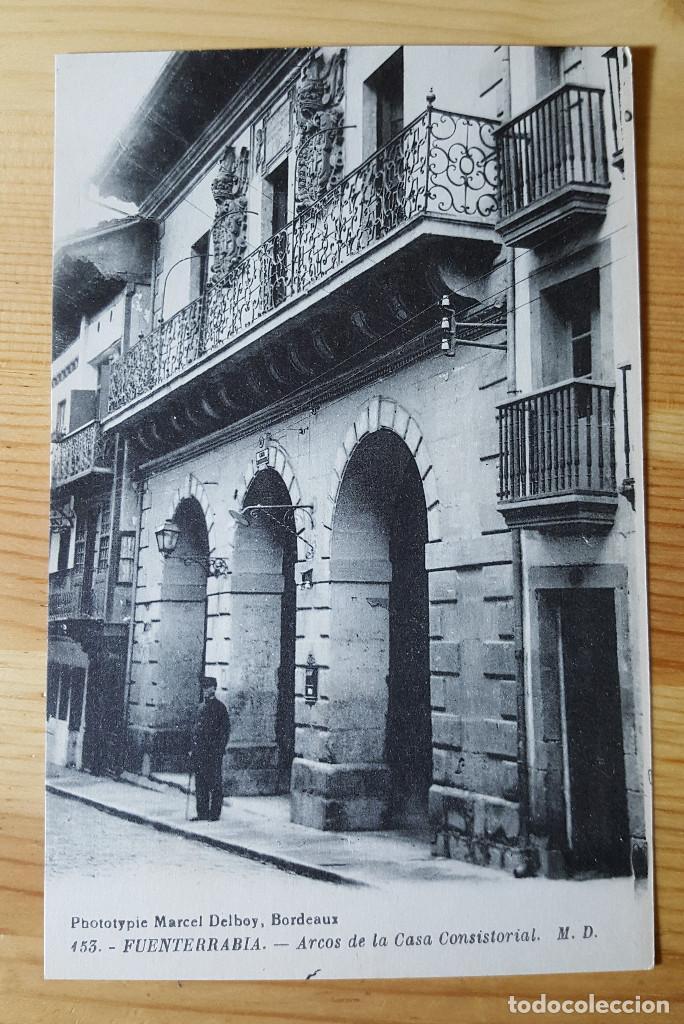 FUENTERRABIA ARCOS DE LA CASA COSISTORIAL Nº 453 ED. MARCEL DELBOY (Postales - España - Pais Vasco Antigua (hasta 1939))