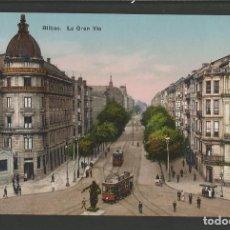 Postales: BILBAO-BILBO-LA GRAN VIA-TRANVIA-L.G.-POSTAL ANTIGUA-(57.055). Lote 151290682