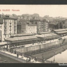 Postales: BILBAO-BILBO-MERCADO-PUENTE-49-FOTOTIPIA CASTAÑEIRA Y ALVAREZ-POSTAL ANTIGUA-(57.077). Lote 151291090