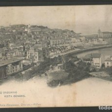 Postales: BERMEO-VISTA GENERAL-1935 LANDABURU HNOS-REVERSO SIN DIVIDIR-POSTAL ANTIGUA-(57.079). Lote 151291642