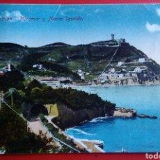 Postales: POSTAL SAN SEBASTIÁN MIRAMAR Y MONTE IGUELDO. Lote 151445885