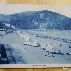 Postales: ZARAUZ LA PLAYA 1935 SELLO REPUBLICA SIN MAS DATOS. Lote 152862558
