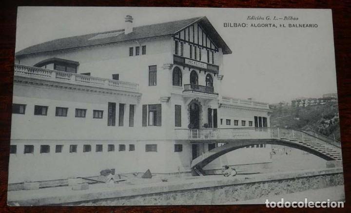 ALGORTA, BILBAO, EL BALNEARIO GERETXE, EDICION G. L. SIN CIRCULAR (Postales - España - Pais Vasco Antigua (hasta 1939))