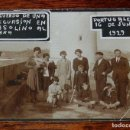 Postales: FOTOGRAFIA DE PORTUGALETE 1929, EXCURSION EN LINEA GASOLINO AL ABRA, MIDE 11,5 X 8,5 CMS.. Lote 153009518