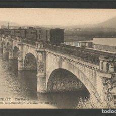 Postales: HENDAYA-HENDAIA-FERROCARRIL-POSTAL ANTIGUA-(57.377). Lote 153255638
