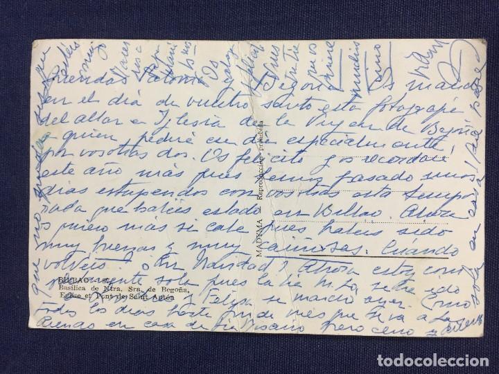 Postales: antigua tarjeta postal basílica nuestra señora de begoña bilbao mediados s xx - Foto 2 - 153298006