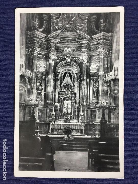 ANTIGUA TARJETA POSTAL BASÍLICA NUESTRA SEÑORA DE BEGOÑA BILBAO MEDIADOS S XX (Postales - España - País Vasco Moderna (desde 1940))