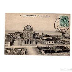 Postales: SAN SEBASTIÁN.(GUIPÚZCOA).- PARROQUIA DE SAN IGNACIO. Lote 153690350