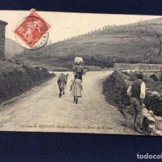 Postales: POSTAL ANTIGUA ALREDEDORES DE BEHOBIA (PIRINEOS BAJOS) RUTA DE BIRIATOU. Lote 153809386