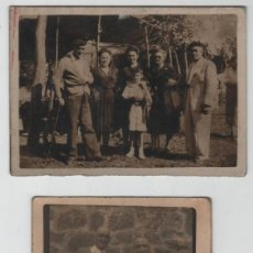 Postcards - Lote de 3 fotografias de Eibar gente en Arrate - 153937126