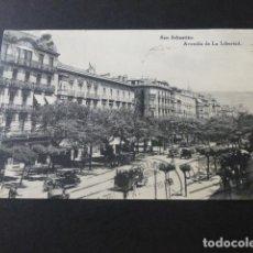 Postales: SAN SEBASTIAN AVENIDA DE LA LIBERTAD. Lote 154039826