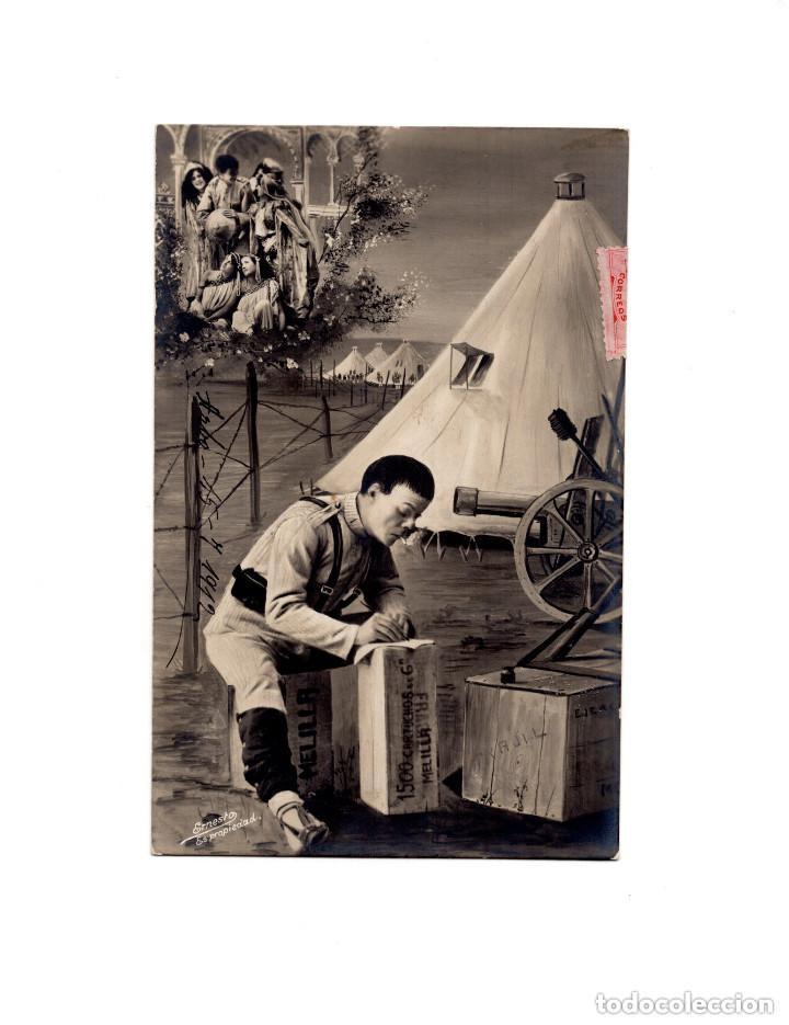 MELILLA.- POSTAL MILITAR CAMPAÑA DE ÁFRICA (Postales - España - Pais Vasco Antigua (hasta 1939))